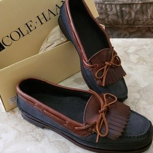 NIB Cole Haan Charcoal Country Camper Loafer Vtg